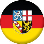 Saarland State Flag 25mm Pin Button Badge